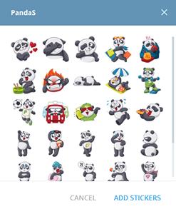 стикеры PandaTeam для Telegram