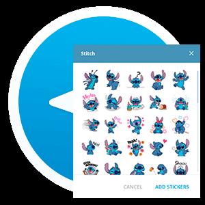 Скачать стикеры Stich для Telegram