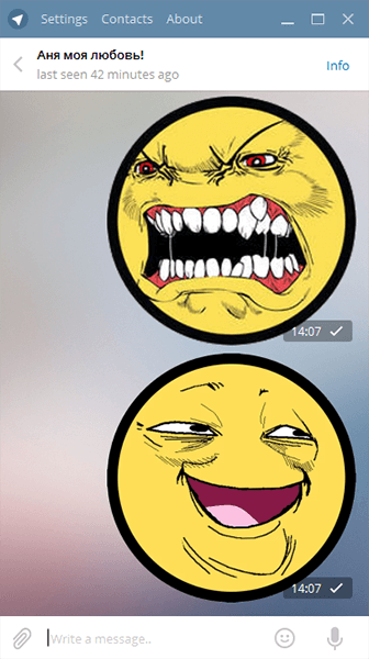 Pekaface стикеры для Telegram