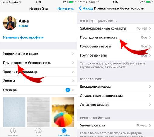 kak-skryt-vremya-poseshheniya-v-telegram